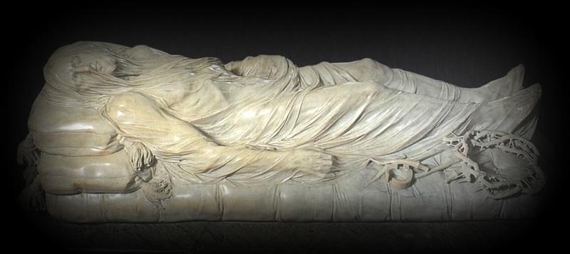 «Христос под плащаницей» (Джузеппе Санмартино, мрамор, 1753)