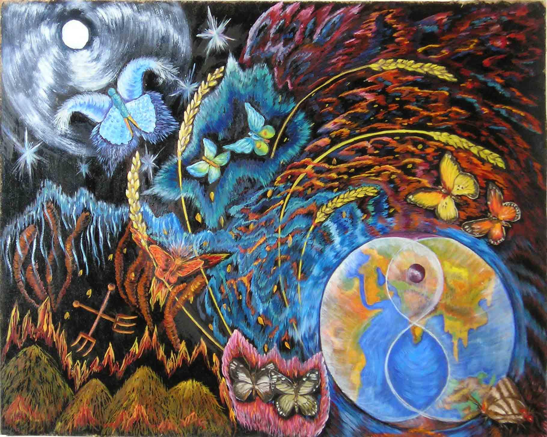эзотерическая живопись, картины, Небесная Нить, Пальковская-Чабанюк, Армагеддон, эзотерика, душа, бессмертие