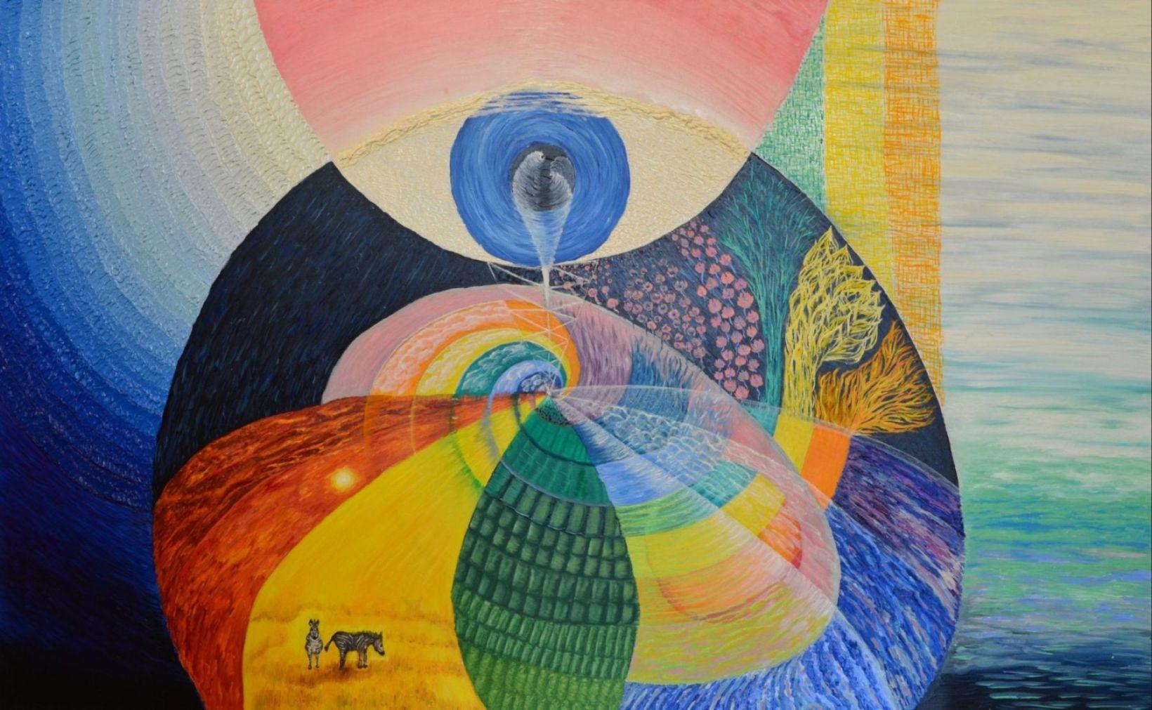 эзотерическая живопись, картины, Небесная Нить, Пальковская-Чабанюк,Точка зрения РА-курса ВосПитания Эмбриона СоЗнания ЧелоВека
