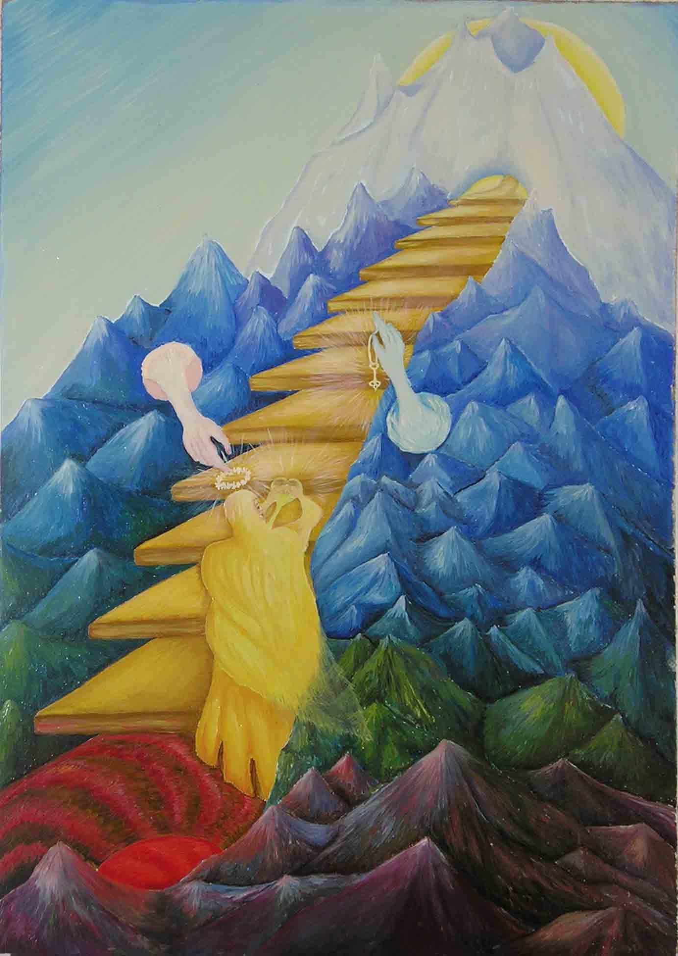 эзотерическая живопись, картины, Небесная Нить, Пальковская-Чабанюк, Сердечное Восхождение