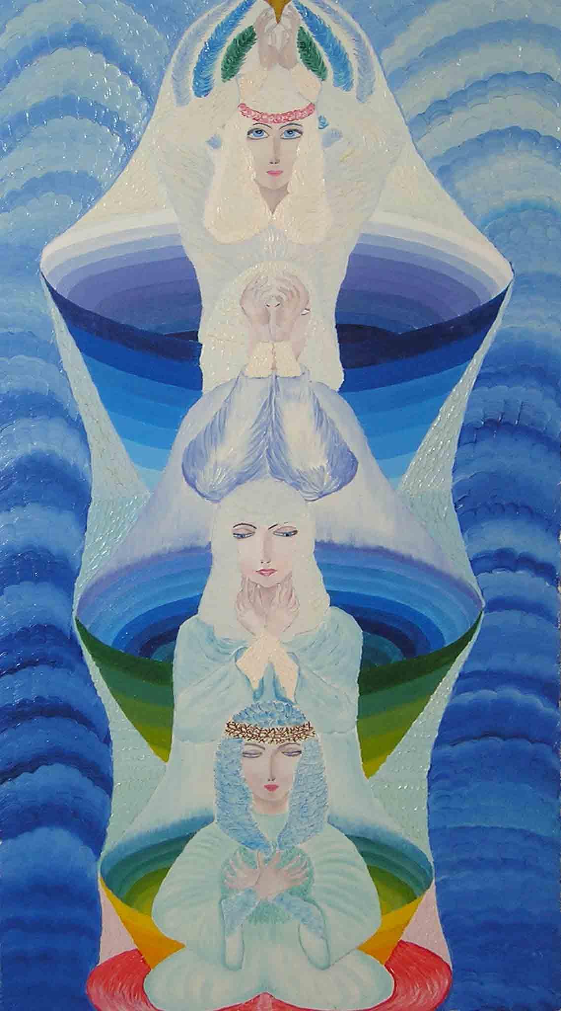эзотерическая живопись, картины, Небесная Нить, Пальковская-Чабанюк,Через Лотос Рук