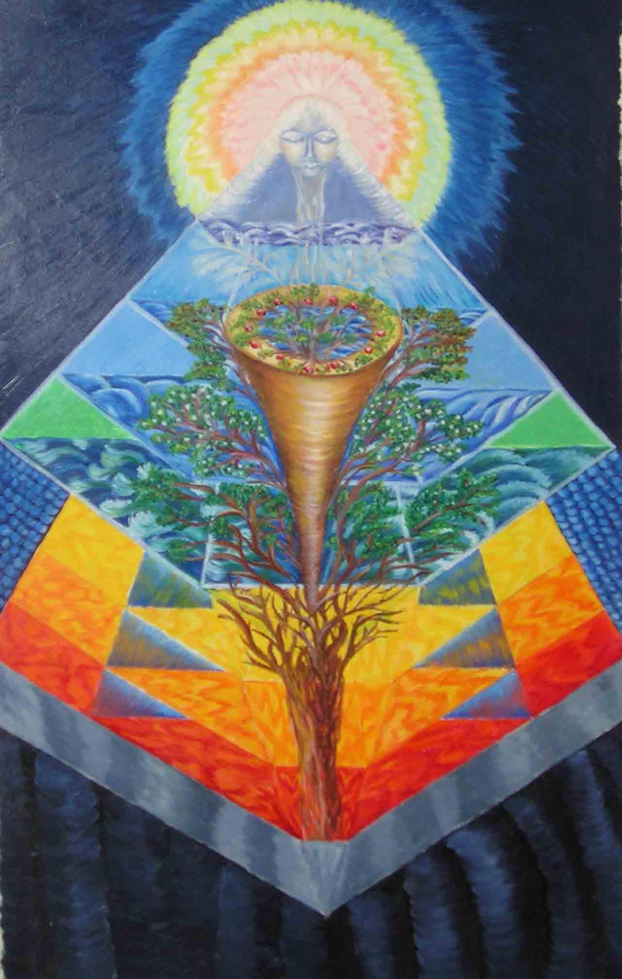 эзотерическая живопись, картины, Небесная Нить, Пальковская-Чабанюк, Прорастающее постоянство