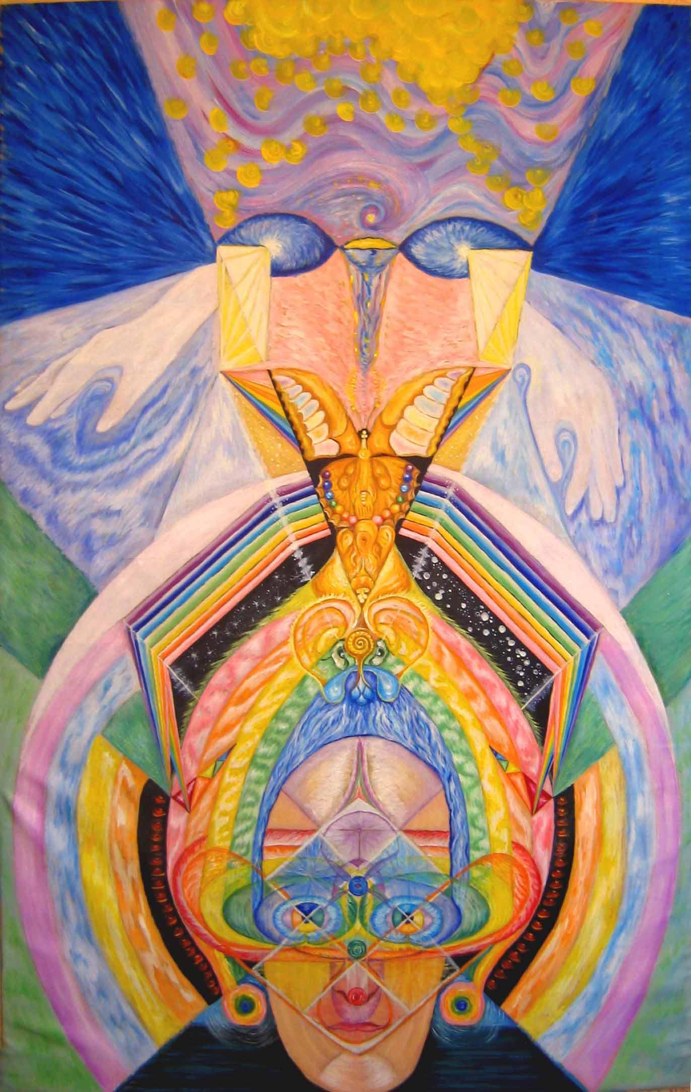 эзотерическая живопись, картины, Небесная Нить, Пальковская-Чабанюк,МахаОн души или Он махает крыльями души